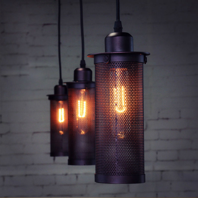 Industrial European Art Craft Fencing Pendant Lamp Ceiling