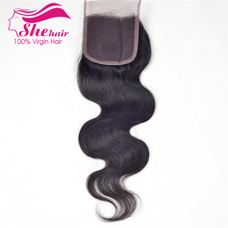 100% human hair 1Pc silk closure 7A Virgin brazilian hair body wave lace closure queen hair Brazilian body wave closure 8-24<br><br>Aliexpress