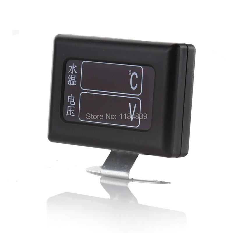 12V/24v GM trucks converted digital temperature alarm high precision digital voltage meter with 10mm Temperature sensing head<br><br>Aliexpress