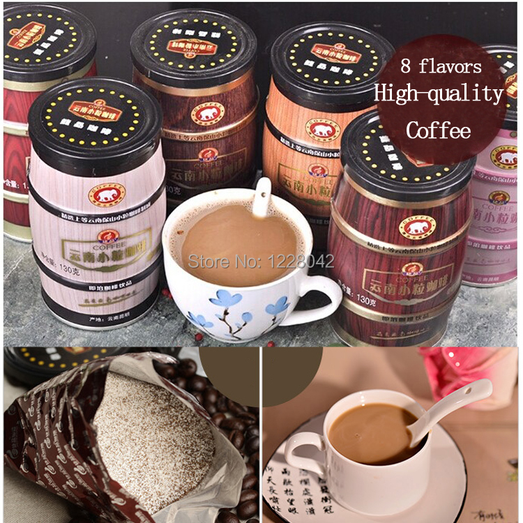 Free shipping 8 tastes Random delivery High quality Coffee Baking green food slimming coffee lose weight