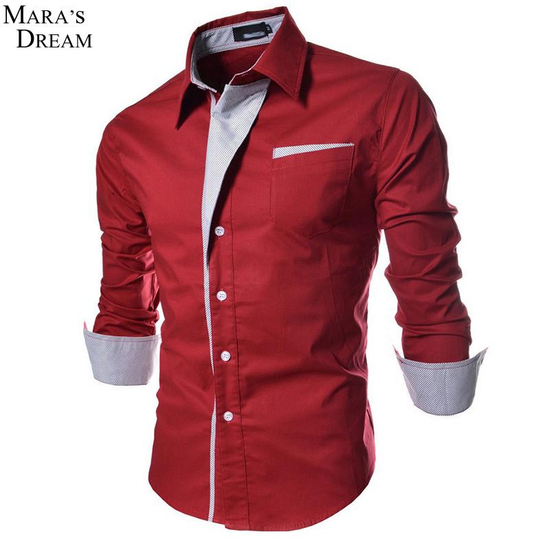 2017 New Mens Shirt Big size Casual Shirt Slim Fit Formal Shirt Social striped collar fashion Wedding shirts