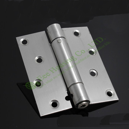 Stainless steel single action spring hinge for wooden doors, self-closing hinges, brushed stainless steel hinges, Free Shipping(China (Mainland))