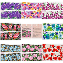 2 Sheet Charm Sexy Flower Full Cover Women Nail Art of Decorations Water Transfer Art Stickers Decals  DIY  Beauty Accessories
