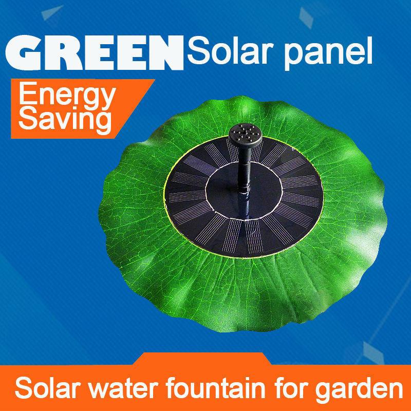 Water Pump Solar Water Fountain for Garden Aquarium Submersible Water Pump Irrigation Solar Panel Power Water Floating 0814B(China (Mainland))