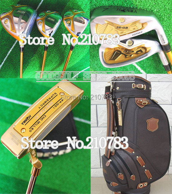 New Golf Clubs HONMA Beres S-02 Golf wood+irons+Putter+bag Complete Club Sets Graphite/shaft+golf DriverHeadcover FREE SHIPPING