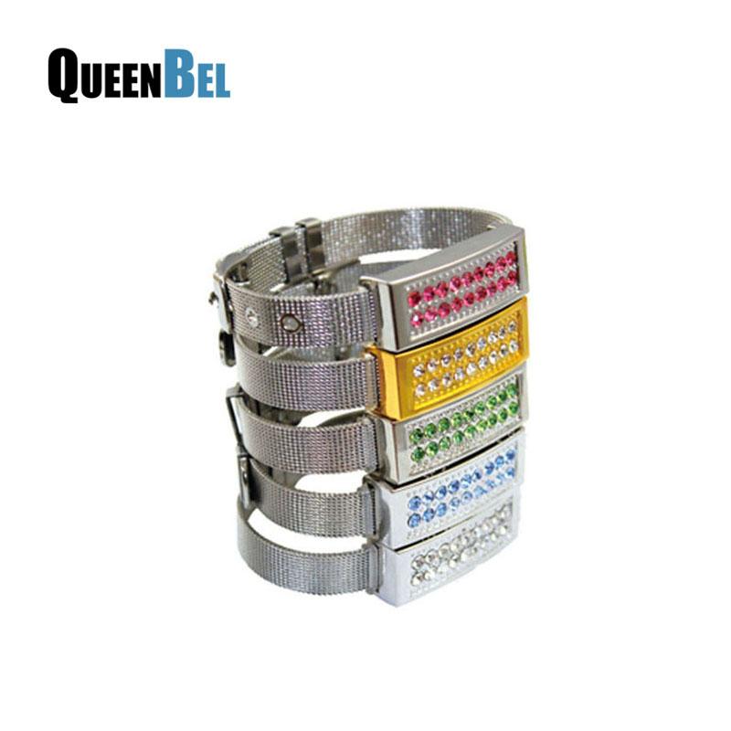 Fashion Cystal Jewelry wristband pendrive memory stick 16gb usb flash drive u disk pen drive pendriver(China (Mainland))
