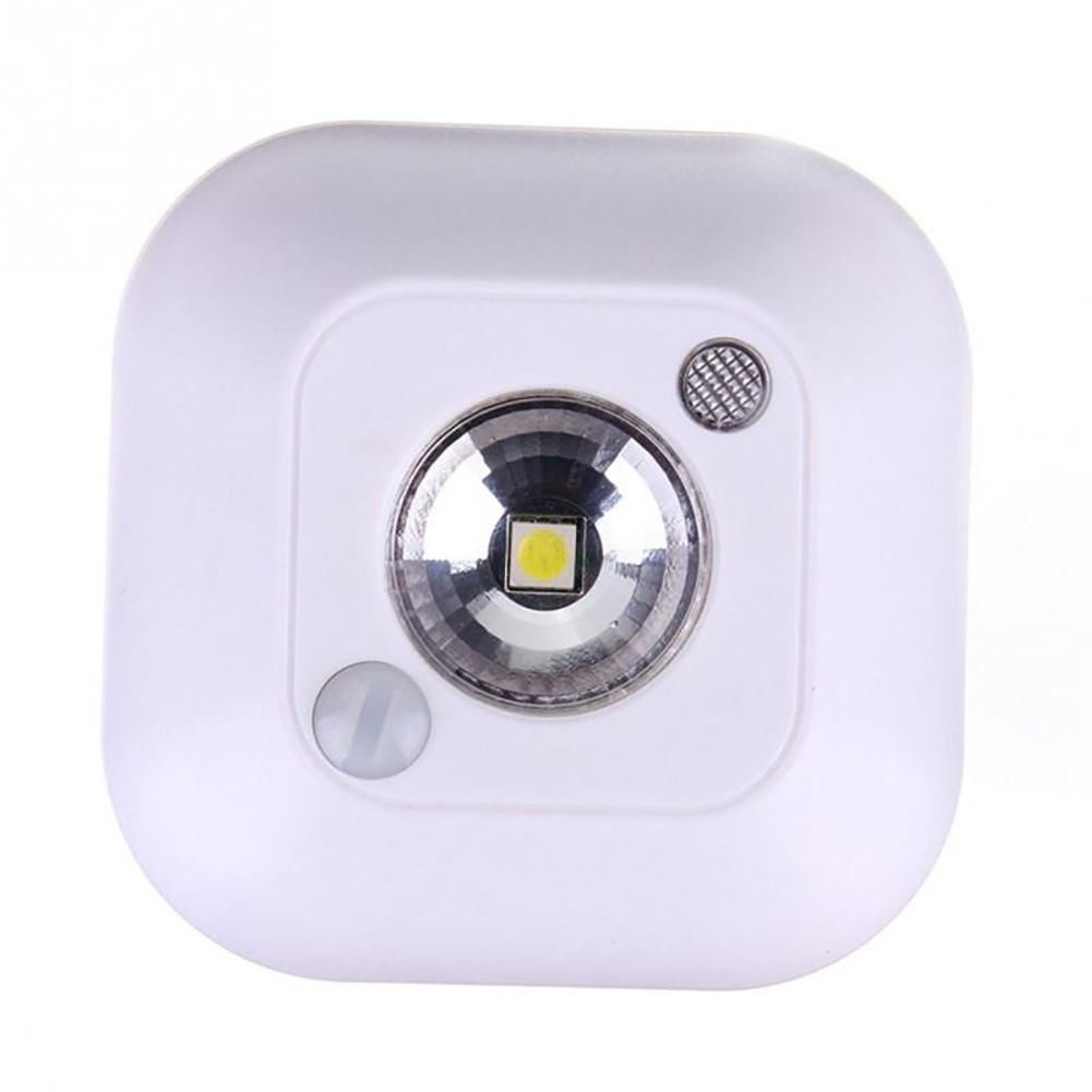 Battery Powered LED Sensor Night Light Dual Induction PIR Infrared Motion Sensor lamp Magnetic Infrared Wall Lamp Cabinet Lamp