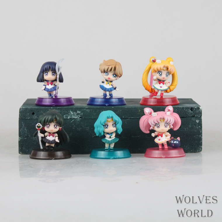 J.G Chen Anime Sailor Moon Tsukino Neptune Pluto Saturn moon PVC Action Figures Toys Different Designs(China (Mainland))