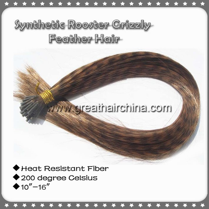 """I Tip Kanekalon 1000pcs/Lot Heat Resistant Fiber 10"""" - 16"""" Mixed 10 Colors Synthetic Rooster Hair Extension, Free Shipping"""