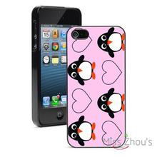 Penguins Hearts Protector back skins mobile cellphone cases for iphone 4/4s 5/5s 5c SE 6/6s plus ipod touch 4/5/6