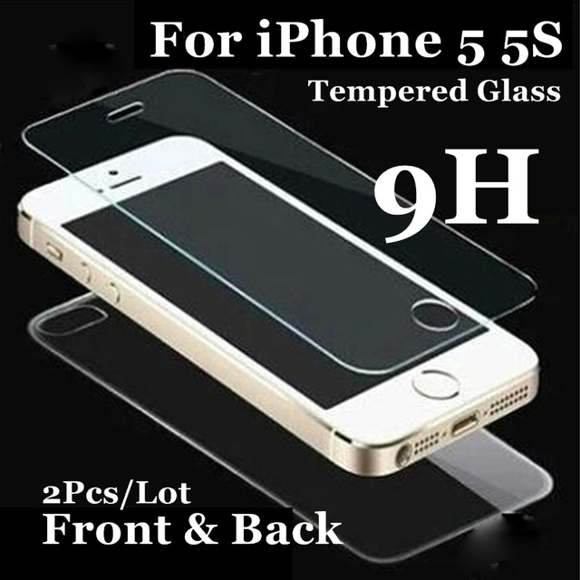 Front and Back For iphone4 5 5S SE Tempered Glass font b Screen b font font