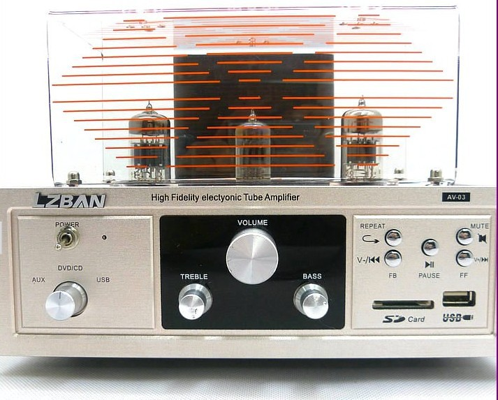Special wholesale NEW tube amp power professional card inserted U disk can be four tube amplifier 1PCS FOR Brazil(China (Mainland))