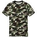 2017 New Arrival Camouflage T shirt Men Classic Crewneck Brand T Shirt Men Plus Size Short