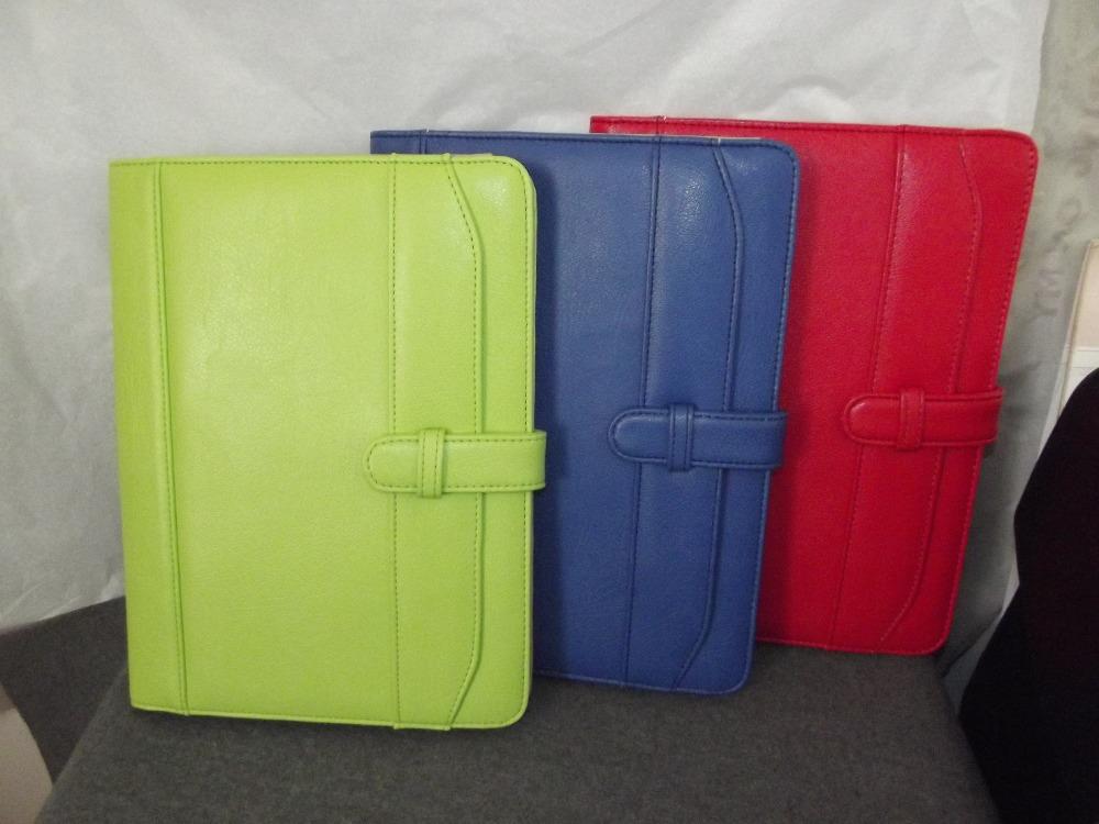 HOT free shipping zipper leather manager folder book a4 conference folders PU Portfolio A4(China (Mainland))