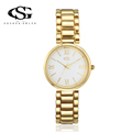 GS Brand Watch Women New Fashion Watch Womens Classic Gold Quartz Stainless Steel Wristwatch Montre Femme