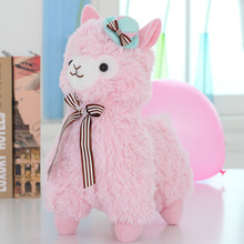 Buy 35cm/45cm Amuse Alpacasso Mud Horse Standing Topper Hat Alpaca Plush Toy Lovely Stuffed Animal Sheep Kids Doll Birthday Gift for $14.36 in AliExpress store