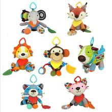 22cm Skkbaby Baby Cute Cartoon Animal Plush Toys Multifunction Appease Doll Push Lathe Hanging Ornaments Toy Pokemon totoro(China (Mainland))