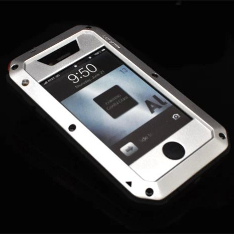 RJ case For iPhone4 Waterproof shock dirt proof Phone case For apple iPhone 4 4G 4S Aluminum cover Cases Phone housing(China (Mainland))