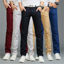 9 couleurs d'été automne mode d'affaires ou style décontracté pantalon hommes slim droites casual pantalons longs de mode multicolore hommes pantalon(China (Mainland))