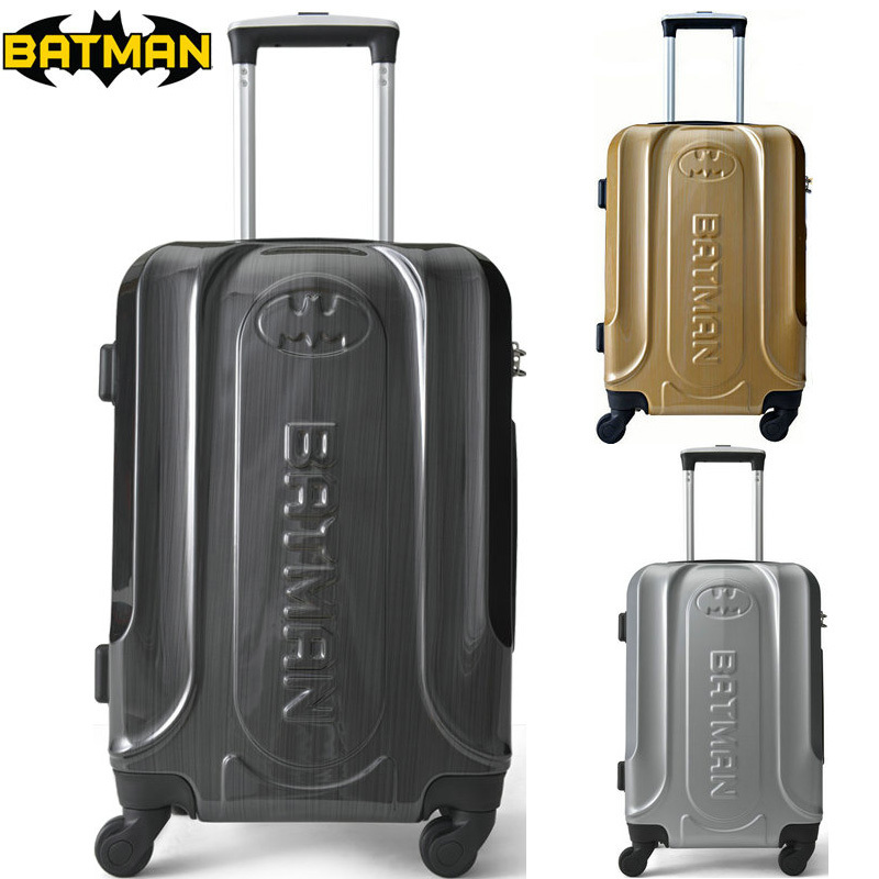 "BATMAN Luggage Men and Women Fashion Travel Suitcase ABS+PC Universal Wheels Trolley Luggage Bag 20"" inch Rolling Luggage(China (Mainland))"