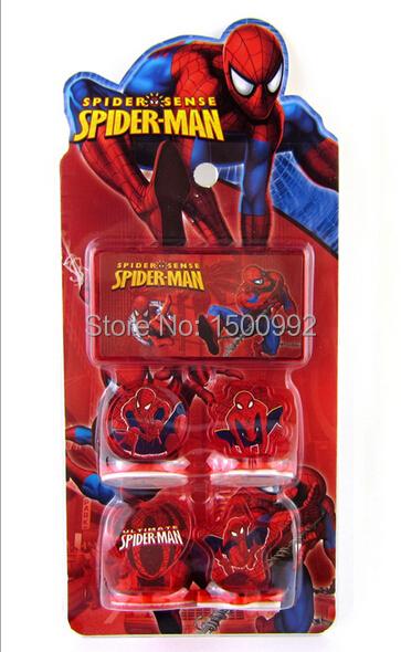 new 12 sets Wholesale Spider-Man Seal set toys children Christmas presents 4 design K3(China (Mainland))