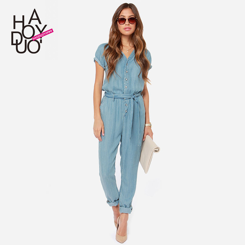 Elegant 2016 Summer Style Rompers Womens Jumpsuit Plus Size Women Clothing