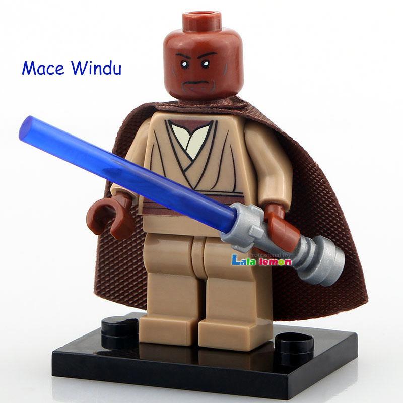 Mace Windu Star War Single Sale Minifigures Building Blocks No Logo Base Custom Made Bricks Classic Children Gift Toys(China (Mainland))