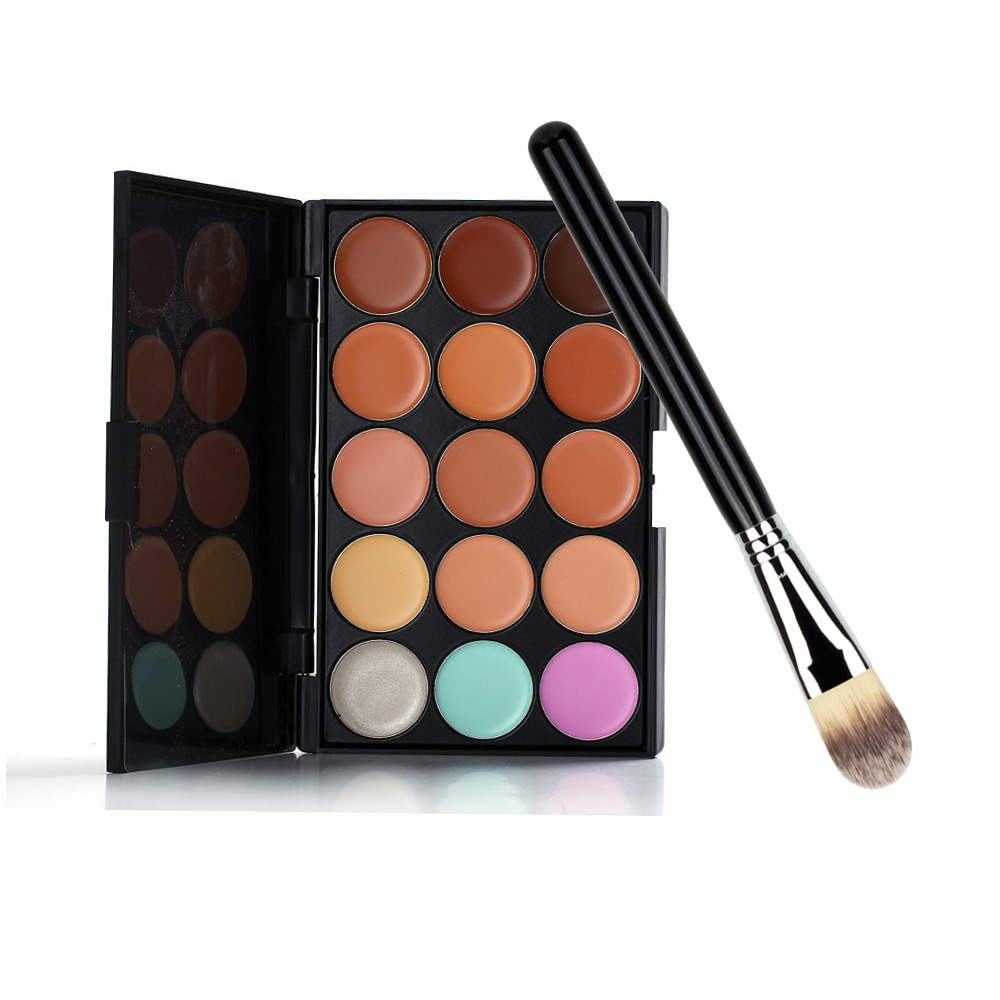 Oil control anti-sweat 15 color Concealer  foundation makeup brush combination   Cover smallpox in India  dark circles