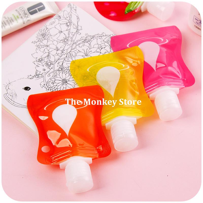 1 Pcs Portable Plastic Cosmetic Liquid Soap Shampoo Shower Gel Empty Bag Bottle Makeup Face Cream Container Free Shipping F3644(China (Mainland))