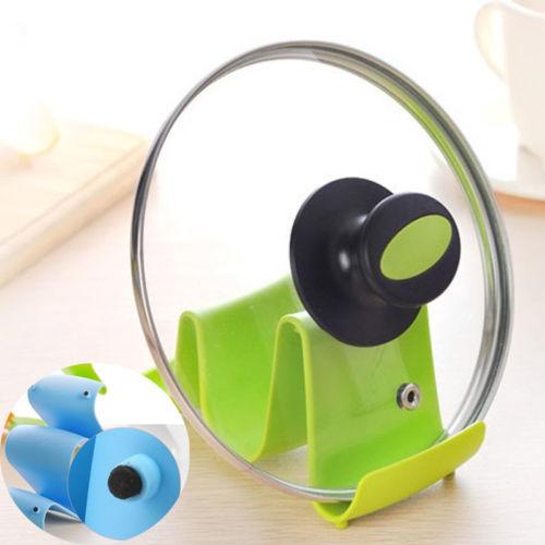 1 개 실용적인 웨이브 디자인 냄비 뚜껑 스탠드 요리 숟가락 홀더 ...