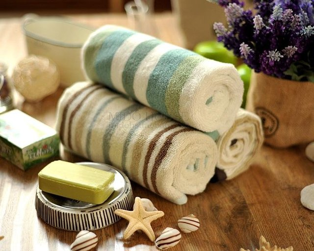 JF2933 Yarn dyed stripe hair circle 100% cotton towel
