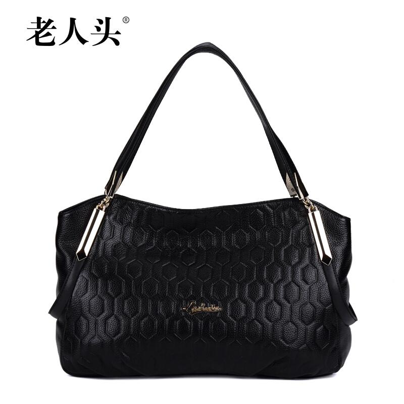 LAORENTOU Brand Bags Handbags Women Genuine Leather Bag Fashion Plaid Shoulder Women Bag Popular Casual Cowhide Handbags Bags<br><br>Aliexpress