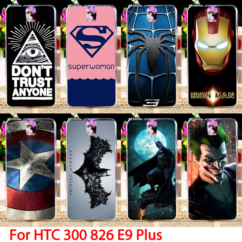Soft Phone Cases HTC One E9 Plus D826 300 301E D826t D826w E9+ PLUS Comic Hard Cell Back Covers Housings Sheaths Skins Hood  -  3C Accessories Shops Store store