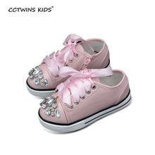 2016 del otoño del resorte blanco zapatillas de deporte de los muchachos de la manera de los planos de cuero de LA PU zapatos de marca zapatillas de deporte para las niñas princesa zapatos rinestone(China (Mainland))