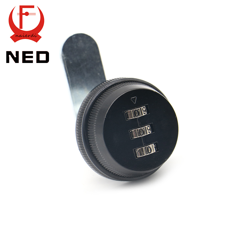 NED Combination Cabinet Lock Black/Silver Zinc Alloy Password Locks Security Home Automation Cam Lock For Mailbox Cabinet Door(China (Mainland))