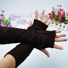New Arrival Women Crochet Knitting Wrist Arm Warmer Fingerless Gloves Free Shipping(China (Mainland))