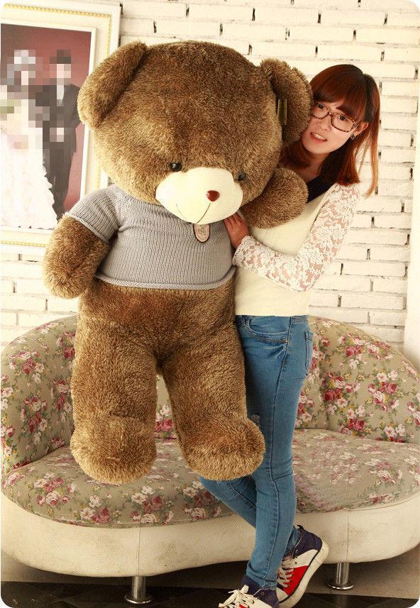 Hot! 60CM Giant Big Cute Stuffed Plush Teddy Bear Huge Soft Toy Gray(China (Mainland))