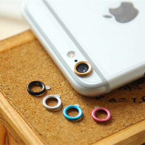 Jewelry Rear Camera Glass Metal Lens Protector Hoop Ring Guard Circle Case Cover For iphone 6 4.7 & plus 5.5 Inch Retail Package(China (Mainland))