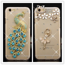 2016 New Luxury Bling Diamond Rhinestone Cover Case For iPhone 6 4.7 inch Shining Crystal Protective Case Cover For iphone 6(China (Mainland))