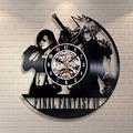 Hot Creative CD Vinyl Record Wall Clock Final Fantasy VII Theme Wall Watch Horloge Murale Classic