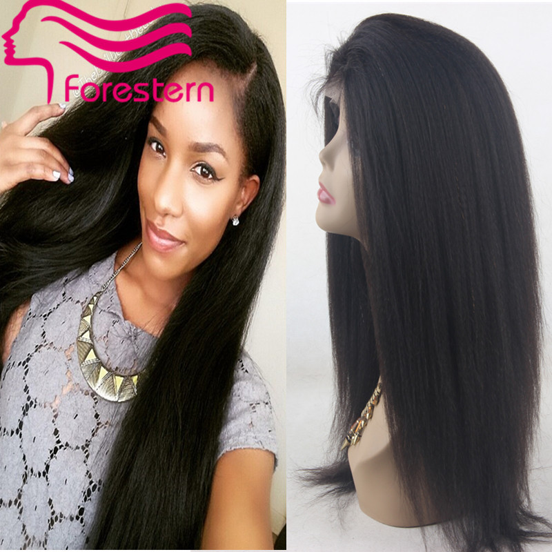 Гаджет  Virgin Kinky Straight Wig 6A Brazilian Human Hair Full Lace Wig With Bleached Knots Cheap Afro Kinky Straight U Part Wig None Волосы и аксессуары