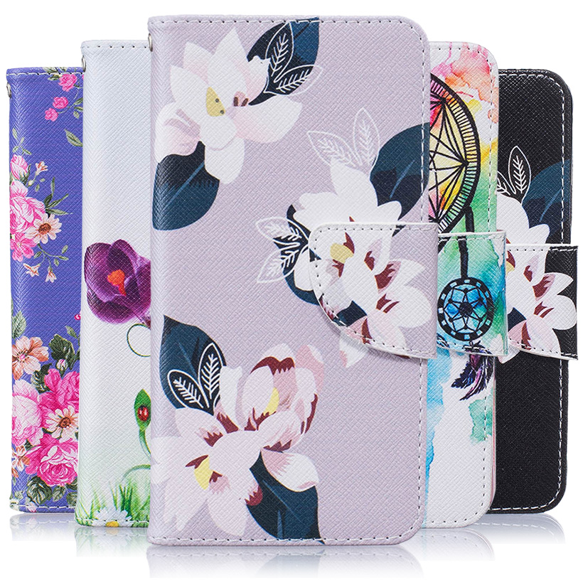 For Huawei P9 Lite P9 Mini G9 G9 Lite VNS-L21 VNS-L22 VNS-L23 VNS-L31 VNS-L53 Honor 8 Smart (India) PU Leather Bag Flowers Cases(China (Mainland))