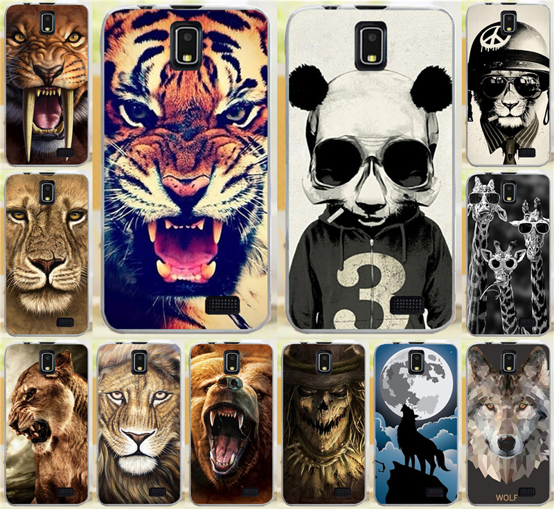 Classic Bear Tiger Lion Wolf Rhinoceros Cat Animal AX Skull PC Hard Cases For Lenovo A328 A328T Cell Phone Case Cover Shell Capa(China (Mainland))