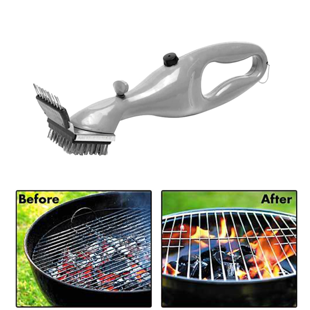 Hot Barbecue Stainless Steel BBQ Cleaning Brush Churrasco Outdoor Grill Cleaner with Power of Steam bbq accessories Cooking Tool(China (Mainland))