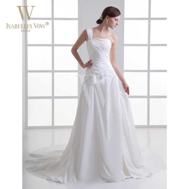 Summer style wedding dress white one shoulder beach for One shoulder beach wedding dress