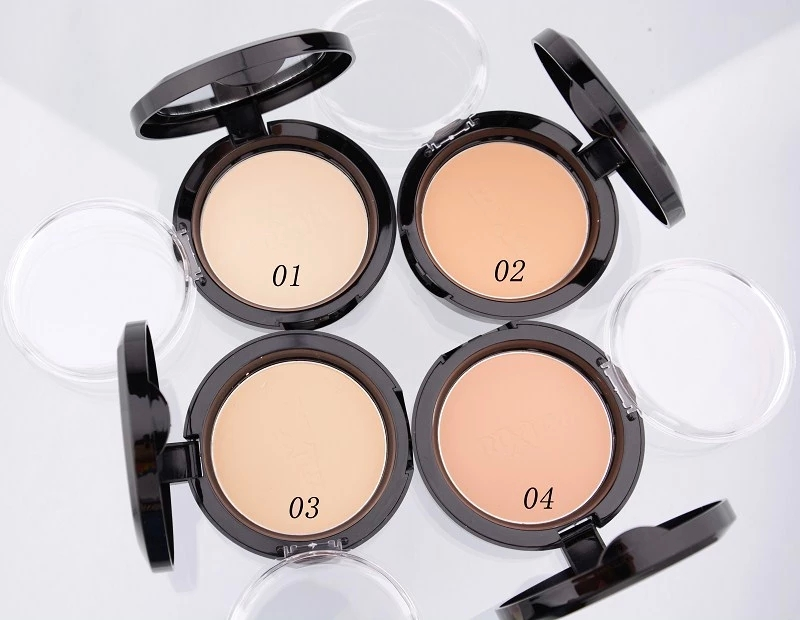 4 colors New Makeup face Pressed Powder Makeup Loose Powder Bare Mineralize Skin Finish Natural Mineral Powder Palette to Face(China (Mainland))