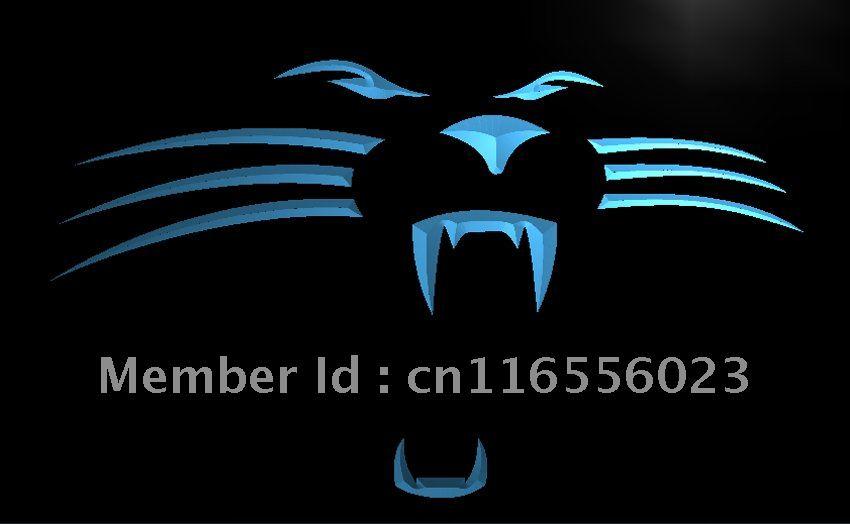 LA122- Carolina Panthers Football Bar LED Neon Light Sign home decor crafts(China (Mainland))