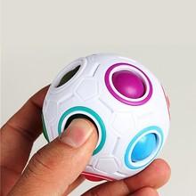 Magic Cube Toys Novelty Rainbow Football Puzzle Learning & Educational Spherical Toys Children Kids Adult(China (Mainland))