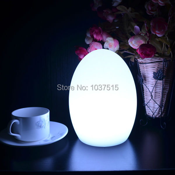 Colorful changed rechargeable LED Egg night light to fit tables of hotels and restaurants lampe Bar Counter Led Wall Nightlight(China (Mainland))