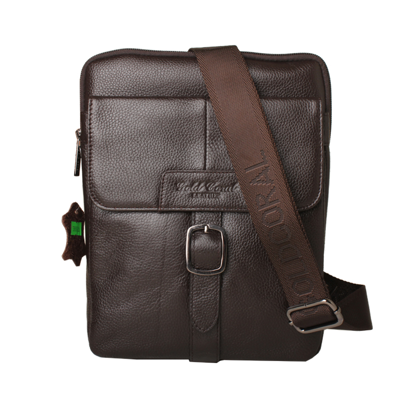Casual genuine leather men messenger bags with high quality travel male shoulder bags 2015(China (Mainland))